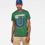 G-Star RAW® Graphic 6 Regular T-Shirt Green model front
