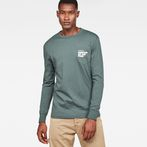 G-Star RAW® Graphic 7 Pocket T-Shirt Green model front