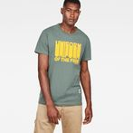 G-Star RAW® Graphic 8 Regular T-shirt Green model front