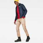 G-Star RAW® Faeroes Classic Straight Tapered Pants Beige model front