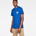 G-Star RAW® Graphic 5 Pocket T-Shirt Medium blue model front