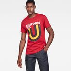 G-Star RAW® Graphic 6 Regular T-Shirt Red model front