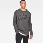 G-Star RAW® Core Logo Knit Grey model front
