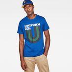 G-Star RAW® Graphic 6 Regular T-Shirt Medium blue model front