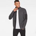 G-Star RAW® Powel Zip Through Knit Grey model front