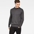 G-Star RAW® Core Mock Turtle Knit Grey model front