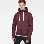 G-Star RAW® Manes Raglan Hooded Zip Sweat Purple model front