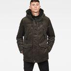 G-Star RAW® Vodan Teddy Padded Hooded Jacket Grey model front