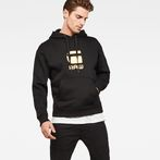 G-Star RAW® Togrul Stor Hooded Sweat Black model front