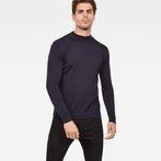 G-Star RAW® Core Mock Turtle Knit Dark blue model front