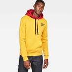 G-Star RAW® Core Hooded Sweat Yellow model front