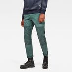G-Star RAW® Faeroes Classic Straight Tapered Pants Green model front