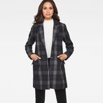 G-Star RAW® Minor SB Wool Check Coat Grey model front