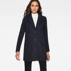 G-Star RAW® Minor SB Wool Check Coat Dark blue model front