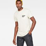 G-Star RAW® Graphic 5 Pocket T-Shirt Beige model front