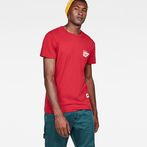G-Star RAW® Graphic 5 Pocket T-Shirt Red model front