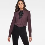 G-Star RAW® Core Slim Bow Blouse Purple