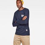 G-Star RAW® Graphic 7 Pocket T-Shirt Dark blue model front