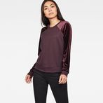 G-Star RAW® Kikko Xzula Sweat Purple model front