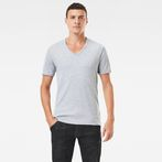 G-Star RAW® Base V-Neck T-Shirt 2-Pack Grey model front
