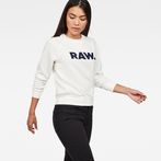 G-Star RAW® Xula New Art Sweater White model front