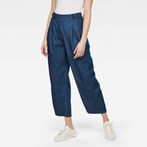 G-Star RAW® Bristum Pleated Wide Leg Chino Medium blue model front