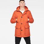 G-Star RAW® Vodan Padded Parka Orange model front