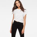 G-Star RAW® Zajla Knotted Straight T-Shirt White model front
