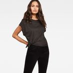 G-Star RAW® Zajla Knotted Straight T-Shirt Black model front