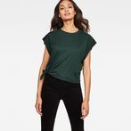 G-Star RAW® Zajla Knotted Straight T-Shirt Green model front