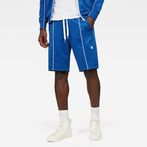 G-Star RAW® Lanc Straight Track Shorts Medium blue model front