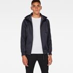 G-Star RAW® Meefic Hooded Overshirt Dark blue model front