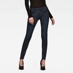 G-Star RAW® Lynn Mid Waist Skinny Jeans Black