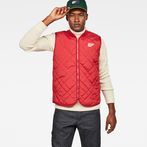 G-Star RAW® Blake Quilted Vest Red model front