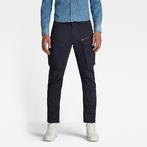 G-Star RAW® Rovic Zip 3D Straight Tapered Pants Dark blue model front
