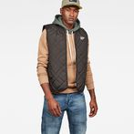 G-Star RAW® Blake Quilted Vest Black model front