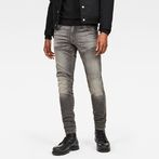 G-Star RAW® 5621 G-Star Elwood 3D Zip Knee Skinny Jeans Grey