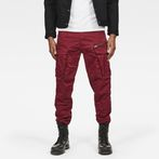 G-Star RAW® Rovic Zip 3D Straight Tapered Pants Red model front