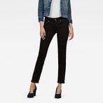 G-Star RAW® Midge Saddle Mid-Waist Straight Jeans Black