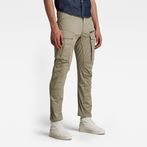 G-Star RAW® Rovic Zip 3D Straight Tapered Pants Beige model front