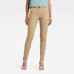 G-Star RAW® Bronson Mid Waist Skinny Chino Beige model front