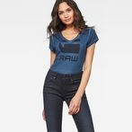 G-Star RAW® Suphe Slim T-Shirt Dark blue model front