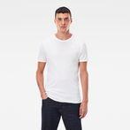 G-Star RAW® Base T-Shirt 2-Pack White model front