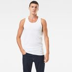 G-Star RAW® Base Tanktop 2-Pack White model front