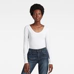 G-Star RAW® Base Round Neck T-Shirt White model front