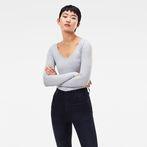 G-Star RAW® Base Round Neck T-Shirt Grey model front