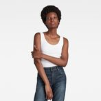 G-Star RAW® Base Round Neck TankTop White model front