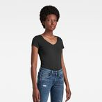 G-Star RAW® Base V-Neck Cap Sleeve T-Shirt Black model front