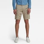 G-Star RAW® Rovic Zip Loose 1/2-Length Shorts Beige model front