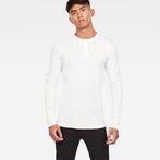 G-Star RAW® Korpaz Slim Granddad T-Shirt Beige model front